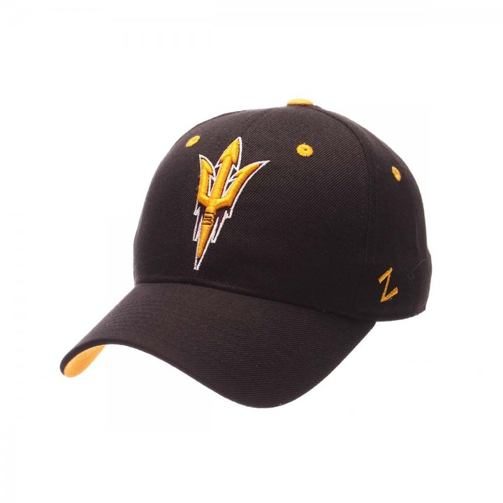 Arizona State Sun Devils Zephyr NCAA Dh Fitted Hat (Black)