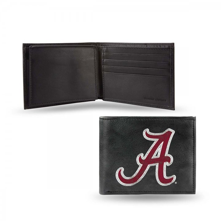 Alabama Crimson Tide NCAA Leather Wallet (Black)