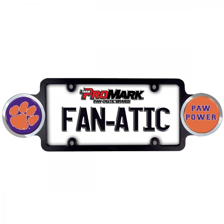 Clemson Tigers Badge License Plate Frame