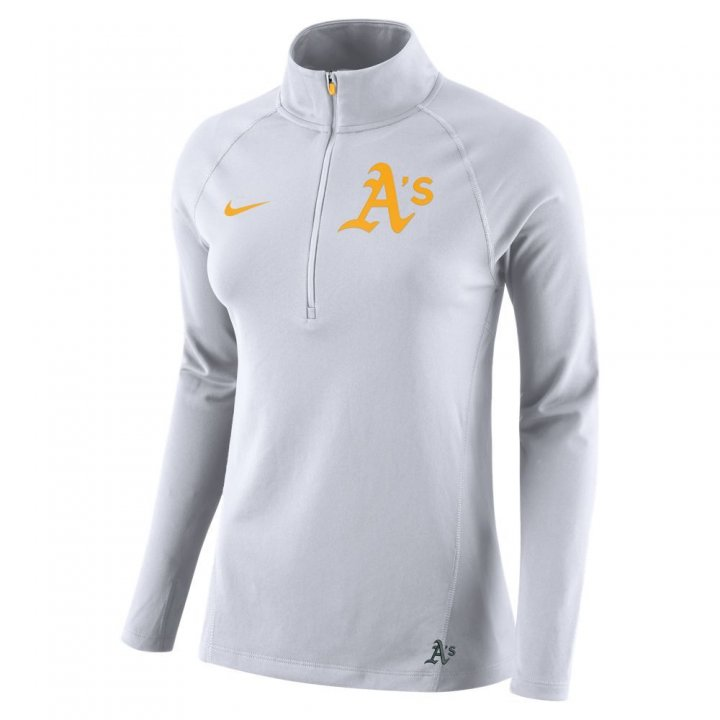 Oakland Athletics Mlb 2018 Womens Top Core Pullover (White)