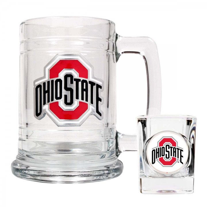 Ohio State Buckeyes NCAA Boilermaker Set (Clear)