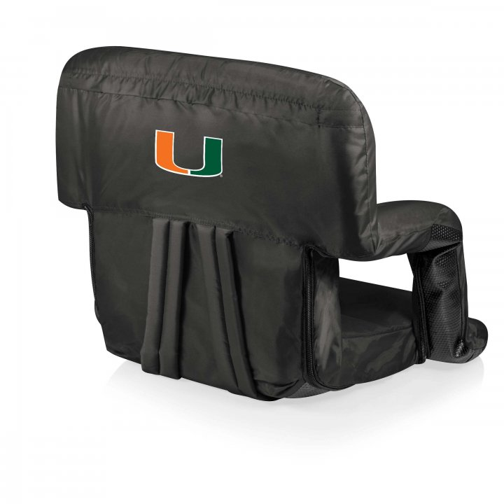 Miami Hurricanes Ventura Seat Portable Recliner Chair (Black)
