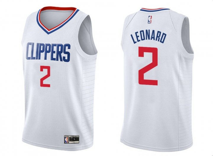 Franklin Sports Youth Kids 2 Kawhi Leonard LA Clippers Jersey White