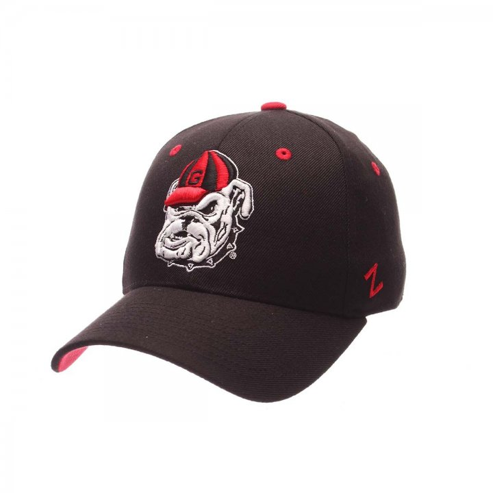 Georgia Bulldogs Zephyr NCAA Dhs Fitted Hat (Black)