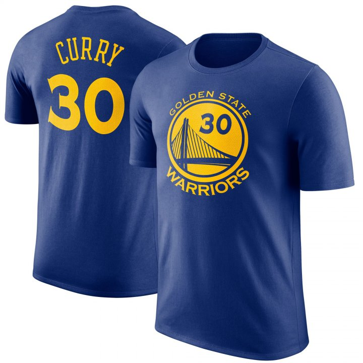 Franklin Sports Men's Golden State Warriors #30 Stephen Curry Name & Number T-Shirt Royal