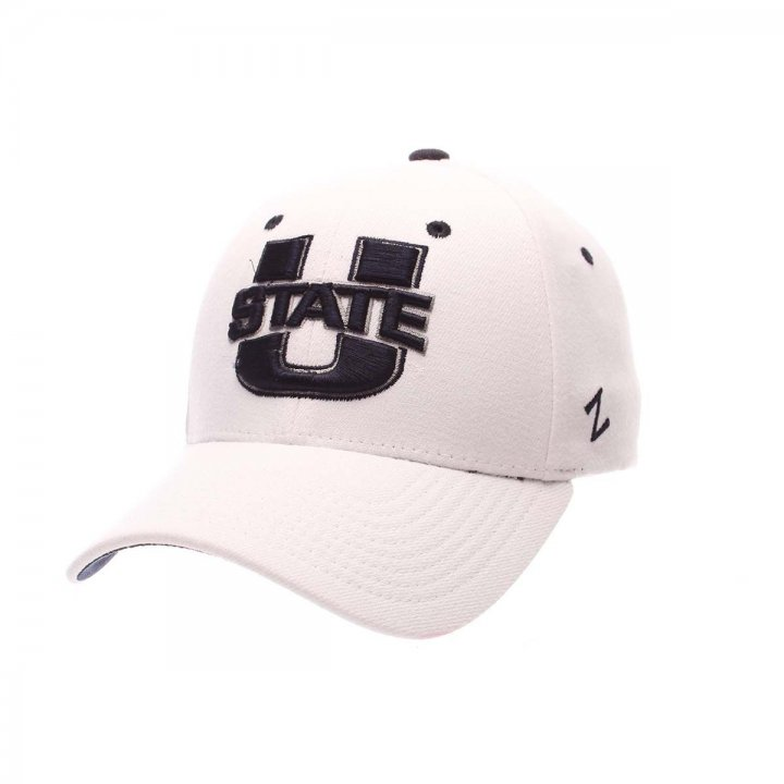 Utah State Aggies Zephyr NCAA Zh Flex Fit Hat (White)