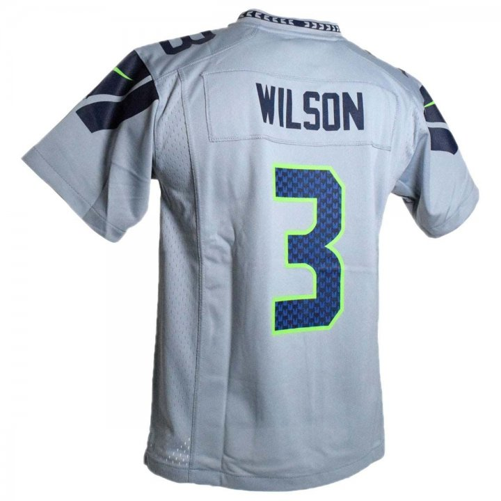 Russell Wilson Seattle Seahawks Nike Youth Game Jersey (Gray)