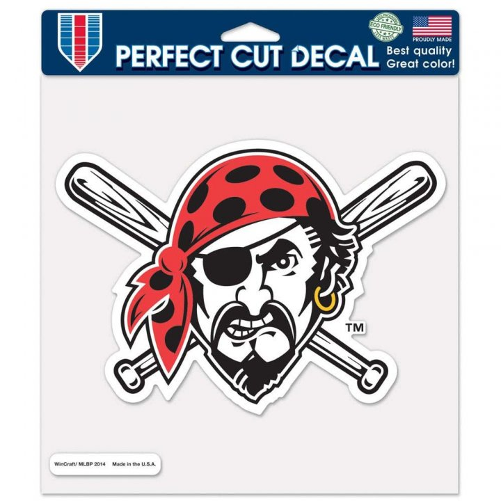 Pittsburgh Pirates 8in Die Cut Decal