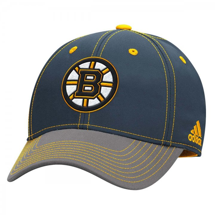 Reebok Boston Bruins Two Tone Structured Flex Hat (Gray)