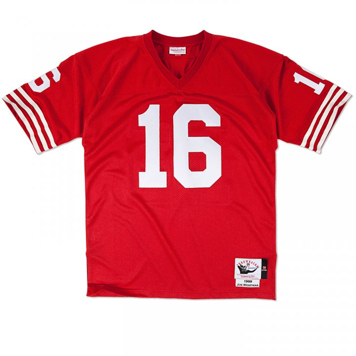 Franklin Sports Men's Joe Montana 1989 Authentic Jersey #16 San Francisco 49ers Red