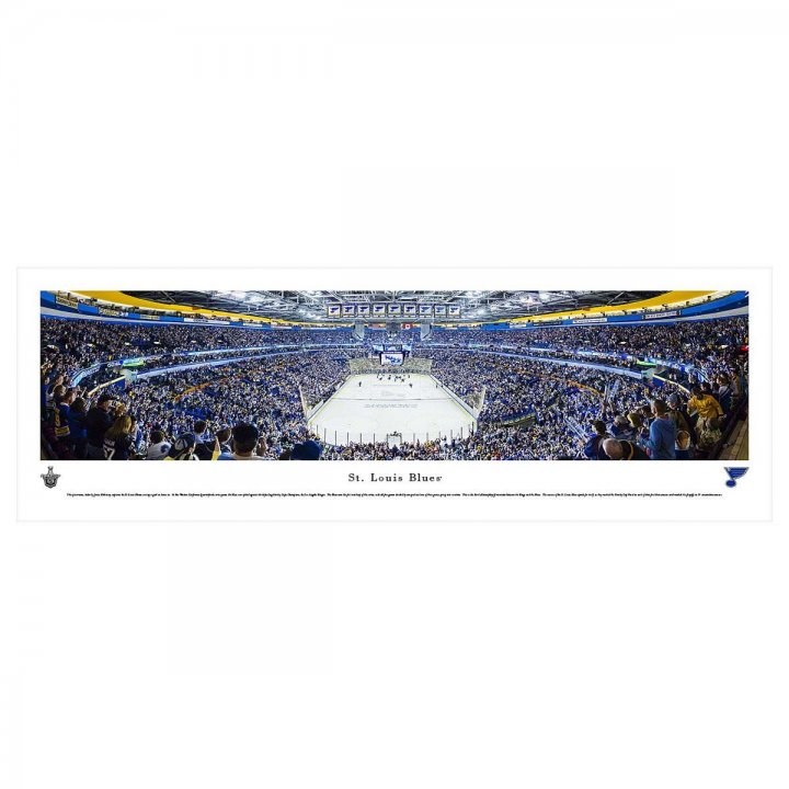 St Louis Blues End Zone Unframed Panorama