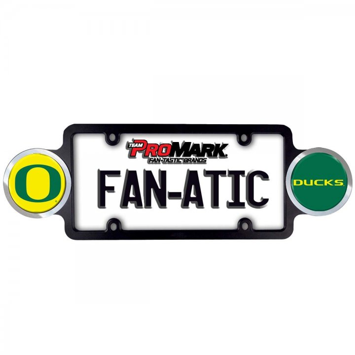 Oregon Ducks Badge License Plate Frame
