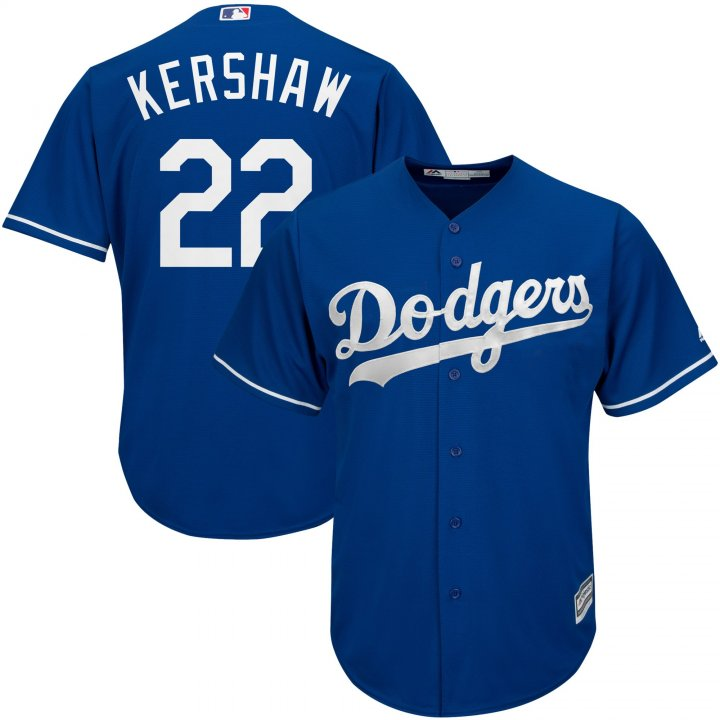 Outerstuff Youth Kids 22 Clayton Kershaw Los Angeles Dodgers Baseball Jersey Royal