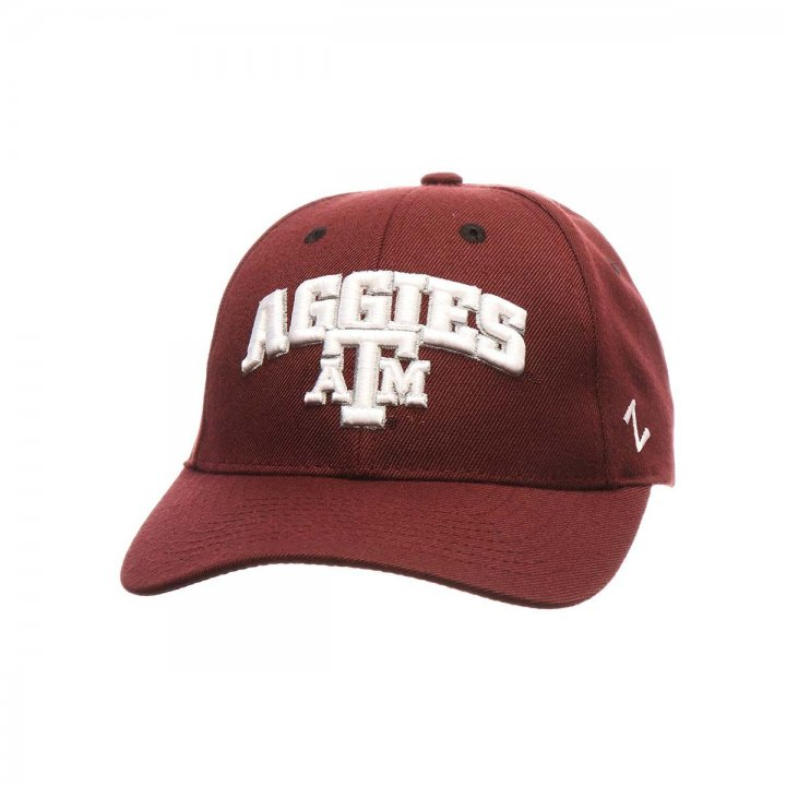 Texas A&M Aggies Zephyr NCAA Signature Snapback Hat (Red)