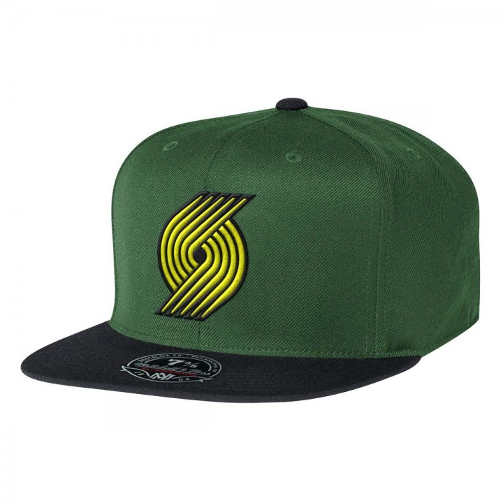 Mitchell & Ness Portland Trail Blazers Current Throwback Fitted Hat (Green)