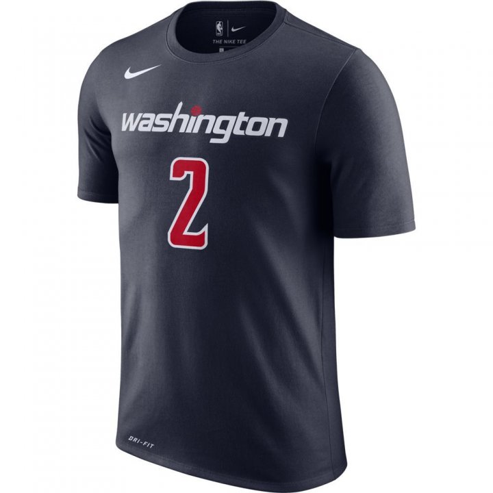 Washington Wizards NBA John Wall Shootaround Name & Number Tee (Navy)