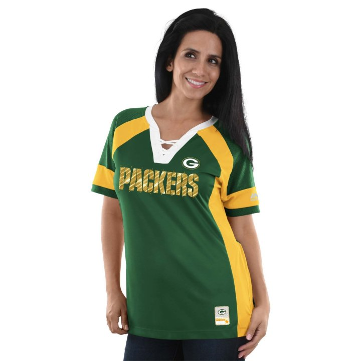 Green Bay Packers NFL Womens Draft Me Top (Green)