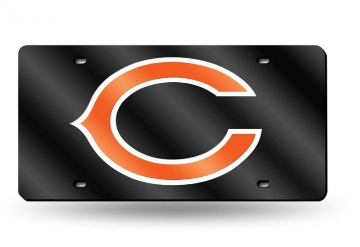 Chicago Bears NFL Alternate Laser Cut License Plate Tag