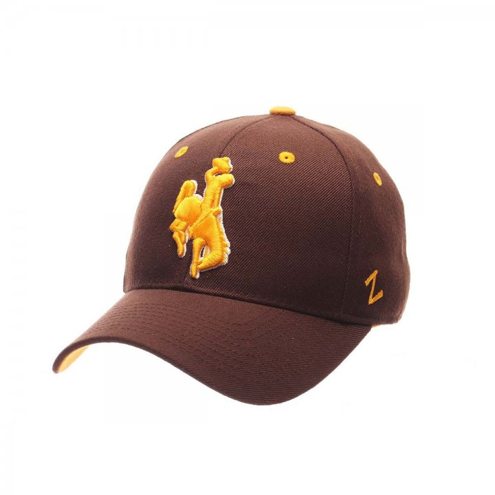 Wyoming Cowboys Zephyr NCAA Dh Fitted Hat (Brown)