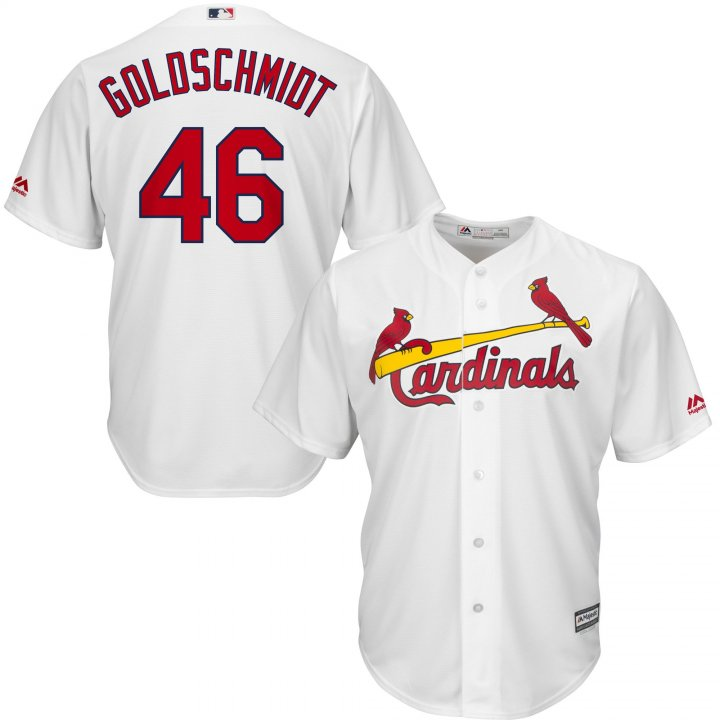 Outerstuff Youth Kids St. Louis Cardinals 46 Paul Goldschmidt Home Player Jersey White