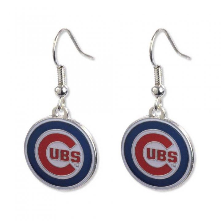 Chicago Cubs Logo Dangler Earrings