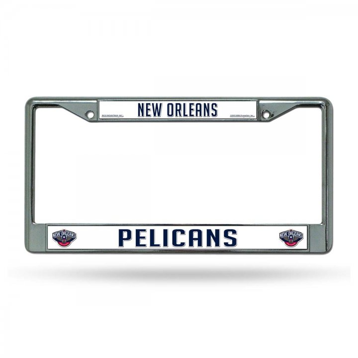 New Orleans Pelicans NBA Chrome License Plate Frame