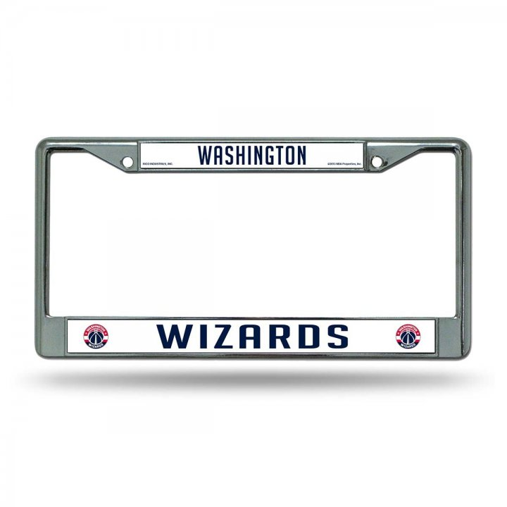Washington Wizards NBA Chrome License Plate Frame
