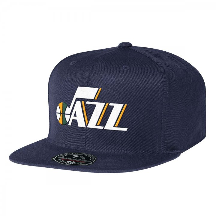 Mitchell & Ness Utah Jazz Solid HC Fitted Hat (Navy)
