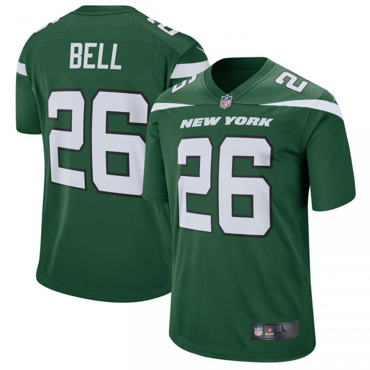 VF LSG Le'Veon Bell #26 New York Jets Game Jersey - Gotham Green