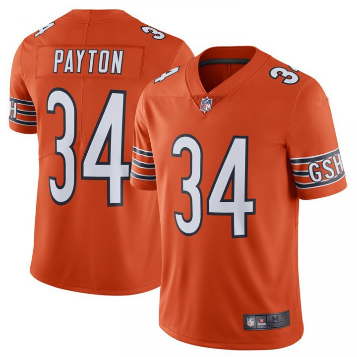 Franklin Sports Men's Walter Payton #34 Chicago Bears Alternate Limited Retired Player Jersey - Orange