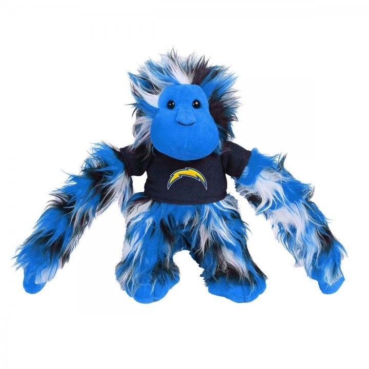Los Angeles Chargers Fluffy Monkey