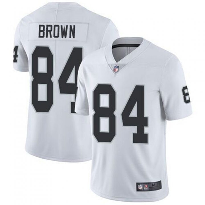 Franklin Sports Men's Oakland Raiders #84 Antonio Brown White Limited Player Stitch Jersey