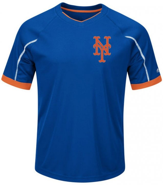 VF New York Mets MLB Majestic Mens Cool Base Emergence Shirt Big & Tall Sizes