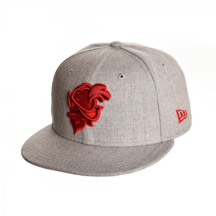 Albuquerque Dukes MiLB Heather Gray Red Duke 5950 (Gray)