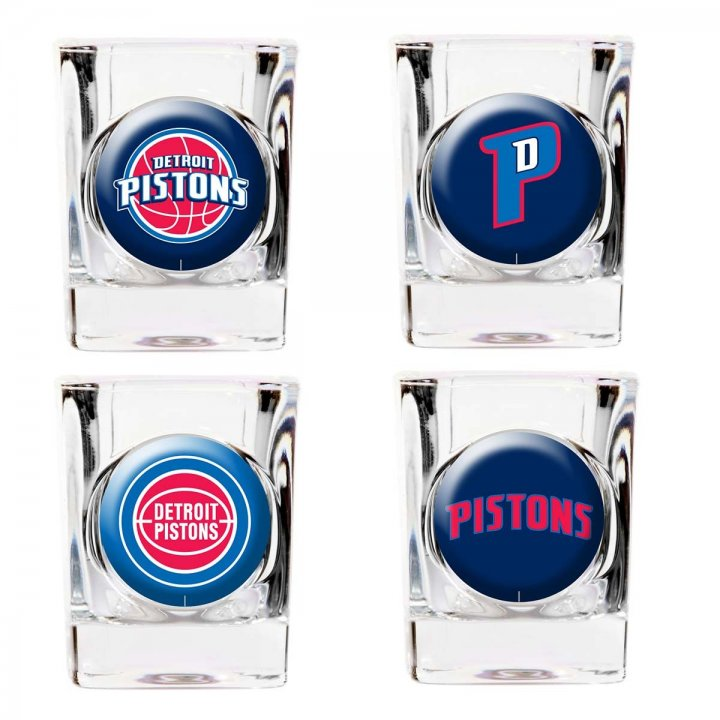 Detroit Pistons Detroit Pistons 4 Piece Collector's Shot Glass Set