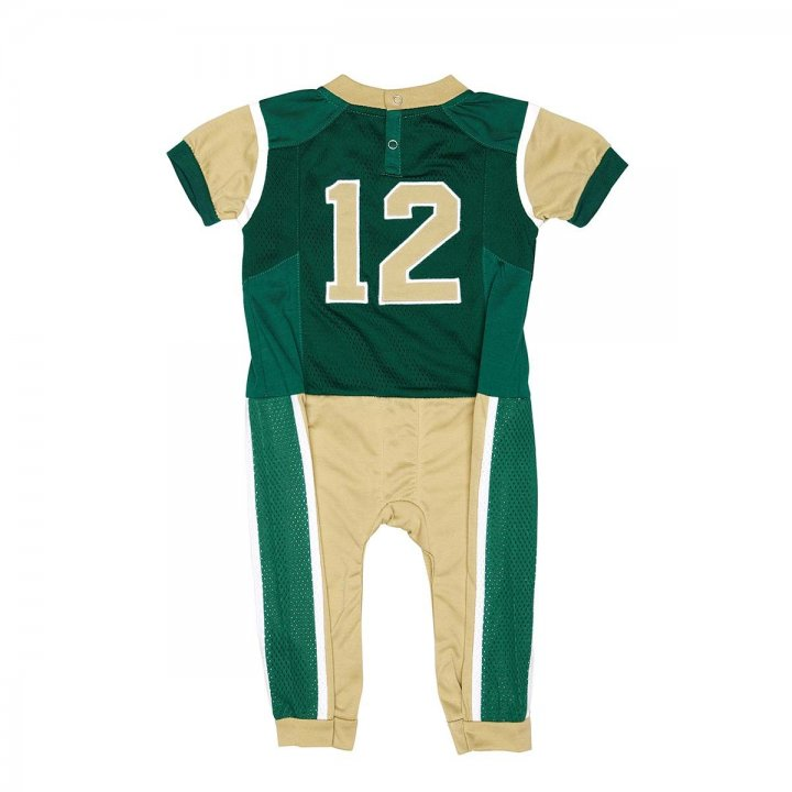 Colorado State Rams Infant Onesie Football Uniform Pajama (Green)