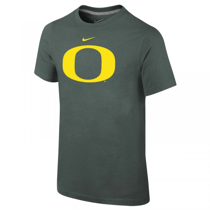 Oregon Ducks Youth Primary Logo T-Shirt (Green)