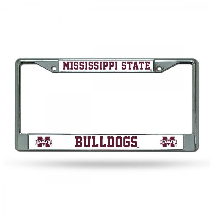 Mississippi State Bulldogs NCAA Chrome License Plate Frame