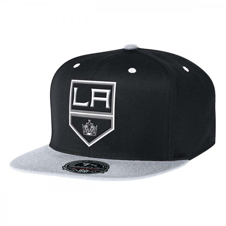 Mitchell & Ness Los Angeles Kings Two Tone High Crown Fitted Hat (Black)
