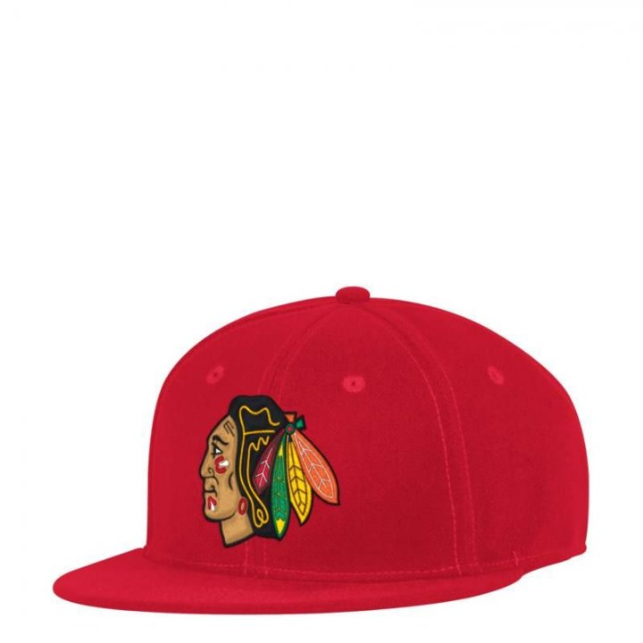 Chicago Blackhawks NHL Core Basic Launch Fitted (Red)