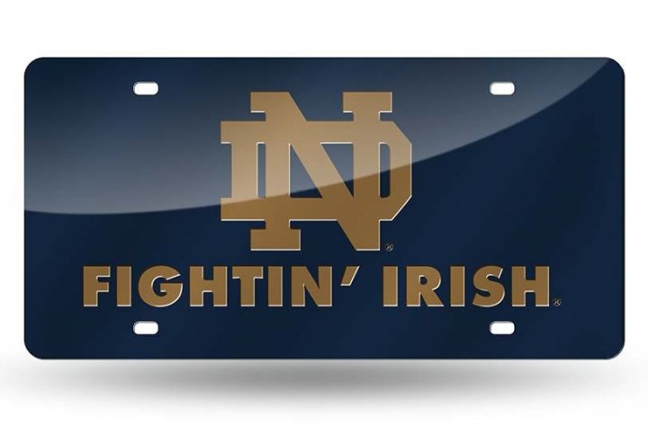 Notre Dame Fighting Irish NCAA Laser Cut License Plate Tag