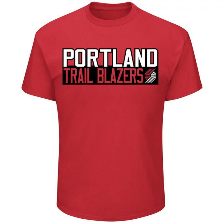 Portland Trail Blazers NBA Zach Collins Vertical Name & Number T-Shirt (Red)
