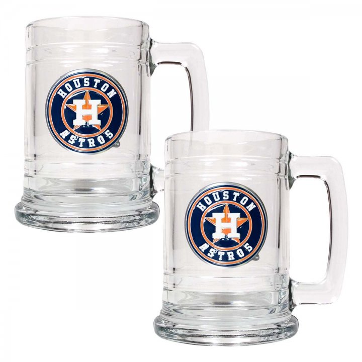 Houston Astros MLB 2 Piece Glass Tankard Set (Clear)