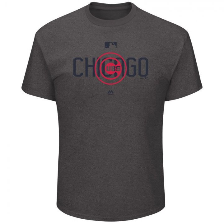 Chicago Cubs MLB Clubhouse T-Shirt (Charcoal)