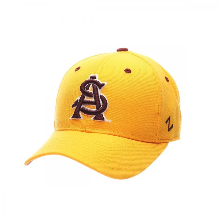 Arizona State Sun Devils Zephyr NCAA Dh Fitted Hat (Gold)