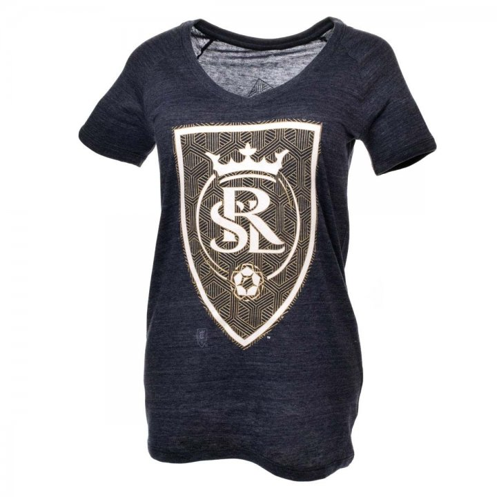 Real Salt Lake MLS Liquid Hexagon Vneck Triblend Tee (Navy)