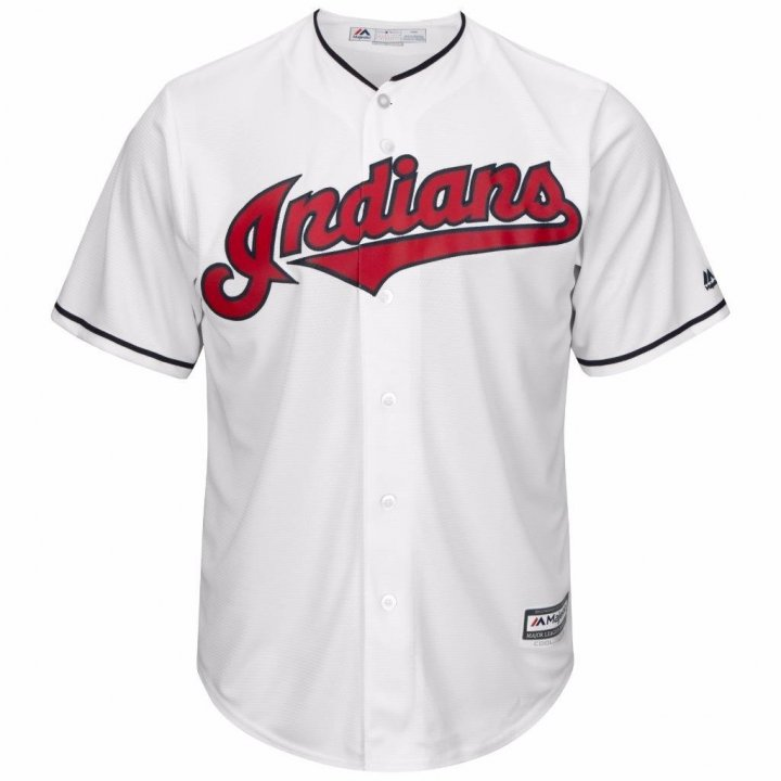 VF Cleveland Indians MLB Mens Majestic Cool Base Replica Jersey White Big & Tall Sizes