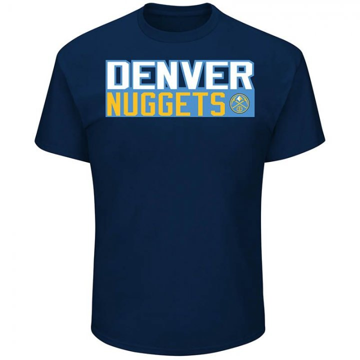 Denver Nuggets NBA Nikola Jokic Vertical Name & Number Tee (Navy)