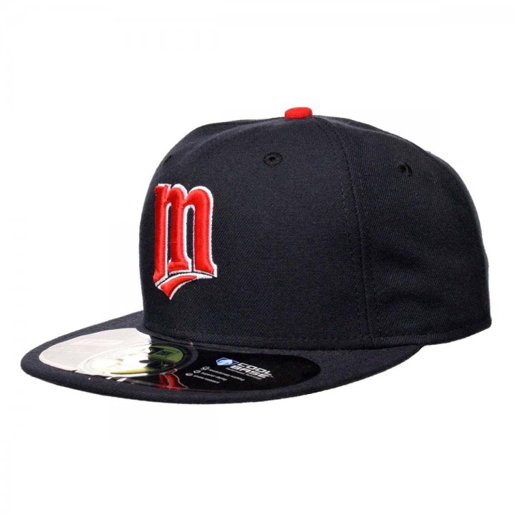 New Era Minnesota Twins Alternate Performance Fitted Hat (Navy)