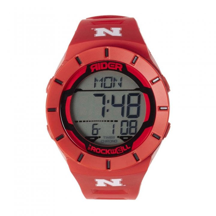 Nebraska Cornhuskers Coliseum Watch (Red)